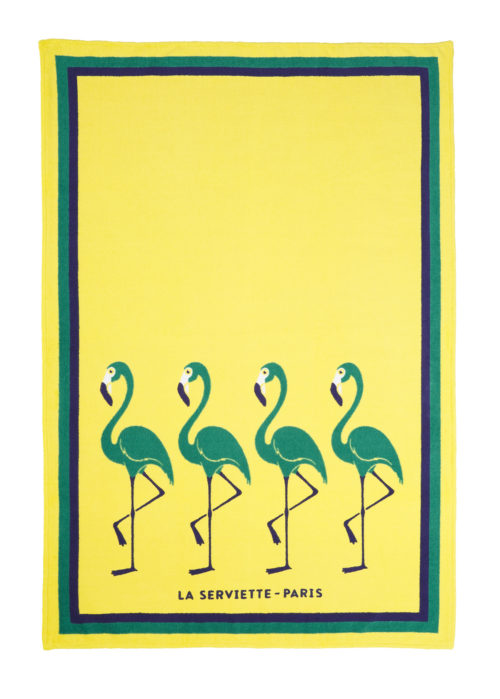 La-serviette-paris-ambassade-excellence-flamingo-jaune