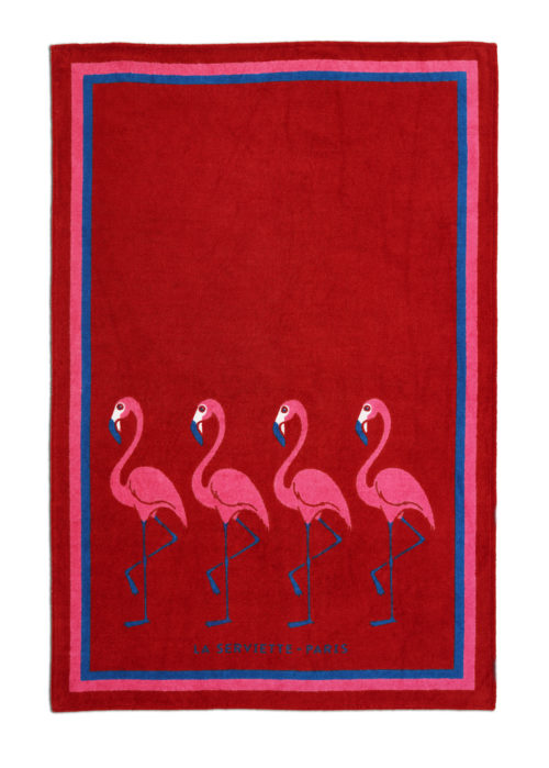 La-serviette-paris-ambassade-excellence-flamingo-rouge